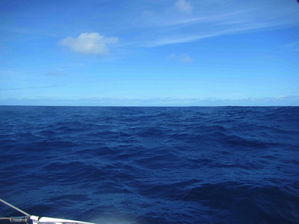 A nice day in the middle of the ocean