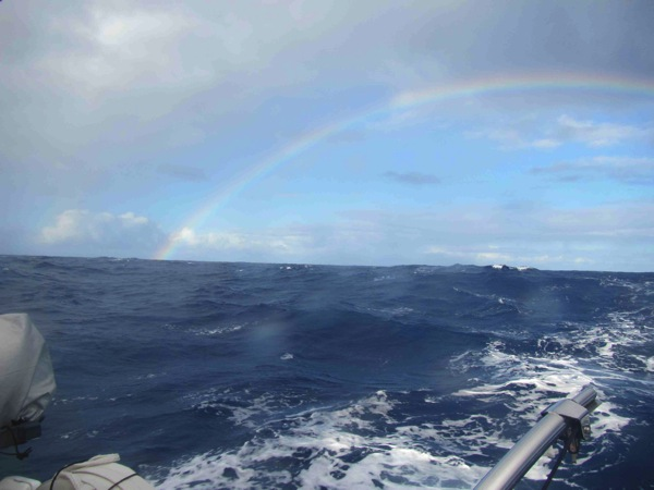 Sailing through a rainbow
