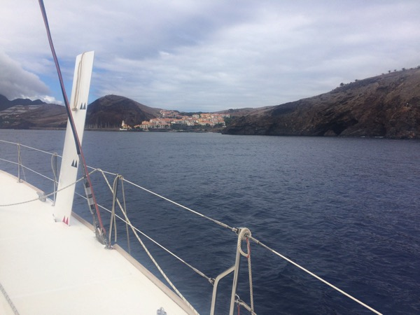 Madeira  marina ahead