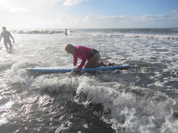 Surfing  Lyn falling